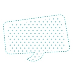 Dotted silhouette rounded rectangle callout vector