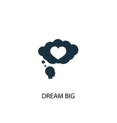 Dream big icon simple element dream vector