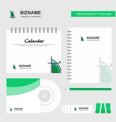 dubai hotel logo calendar template cd cover diary vector image