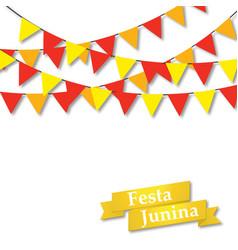 festa junina midsummer holiday vector image