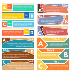 four sets of three elements of infographic design vector image