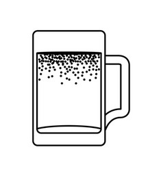 fresh beer in jar isolated icon vector image