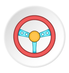 Gaming steering wheel icon cartoon style vector