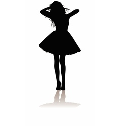 Girl silhouette vector
