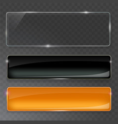 Glass plates set glass banners on vector