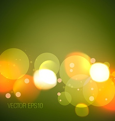 Glowing bokeh lights vector