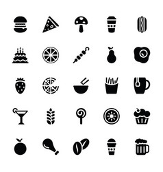 glyph icons food pack vector image