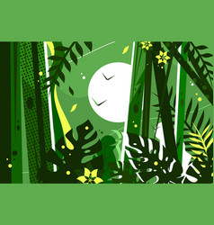 green jungle background vector image