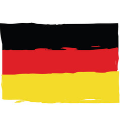 grunge germany flag or banner vector image