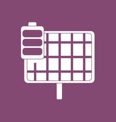 Icon solar panel vector