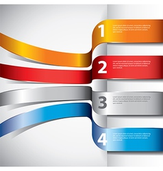 Infographics flying ribbons vector