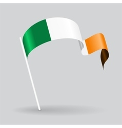 Irish wavy flag vector
