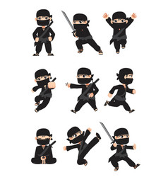 kid ninja vector image