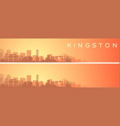 Kingston beautiful skyline scenery banner vector