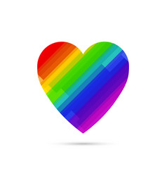 Lgbt symbol rainbow heart vector