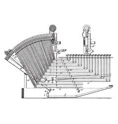 Linotype machine vintage vector