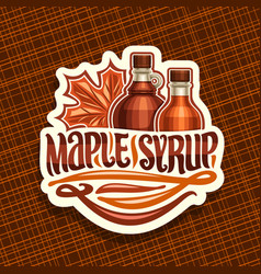 Logo for maple syrup vector