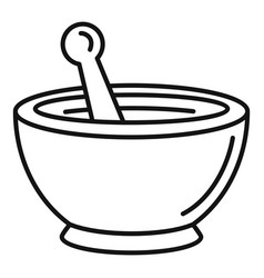 magic bowl icon outline style vector image
