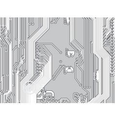 microcircuit printed circuit board background vector image