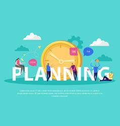 planning effective management background vector image