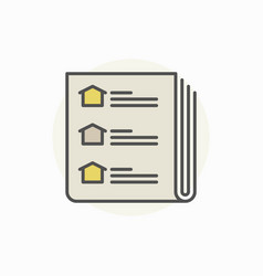 Real estate newspaper icon vector