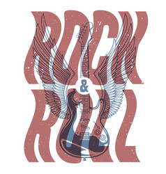 rock and roll banner vector image