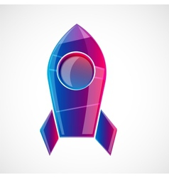 Rocket design concept vector