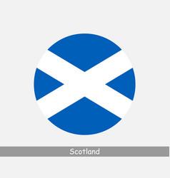 scotland round circle flag vector image