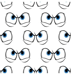 Seamless pattern of cross angry eyes vector image