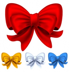 set from bows vector image vector image