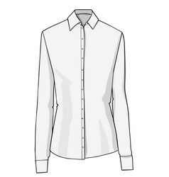 shirt with collar and buttons formal clothes vector image