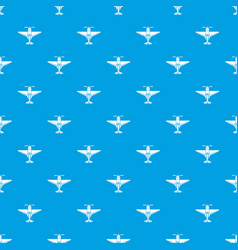 Small plane pattern seamless blue vector