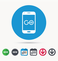 Smartphone game icon go symbol vector