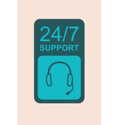Support Flat Icon vector