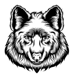 tattoos big head wolf with good vector image