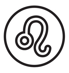 Thin line leo sign icon vector