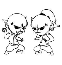 Ugly trolls magic characters ilustration vector
