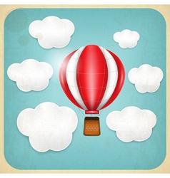 Vintage Balloon Retro card vector image