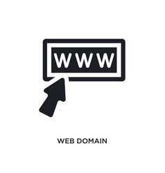 Web domain isolated icon simple element from vector