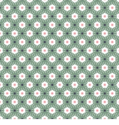 White And Green Seamless Pattern Oriental Style vector image