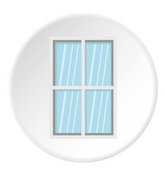 white rectangle window icon circle vector image