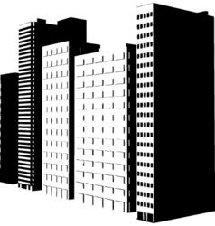 buildings design vector image vector image