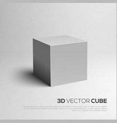 Cube 3D for your design vector image
