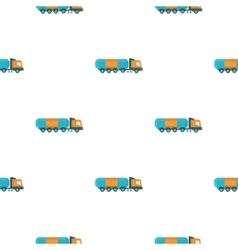 Oil tank trucker icon in cartoon style isolated on vector image vector image