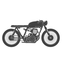 Old vintage motorcycle cafe racer theme vector image vector image