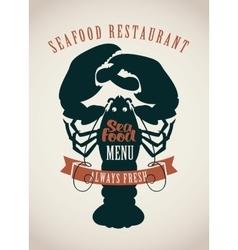 restaurants menu or seafood vector image vector image