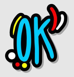 sticker ok vector image