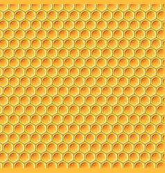 yellow honey pattern vector image vector image