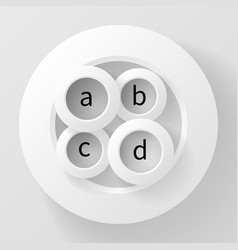 abstract four circles inside the fifth vector image