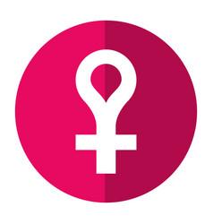 Female gender symbol icon shadow vector
